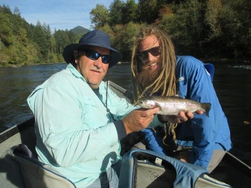 Roaring fork guide service mckenzie river guide rainbow for Fishing eugene oregon