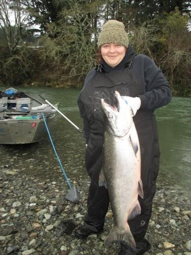 Roaring fork guide service how about a big salmon for for Siletz river fishing