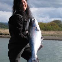 Suki with a 30+ lb Sixes King